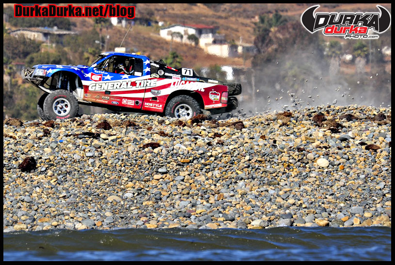Trophy Truck winner Rick Johnson hits the rock whoops at Erindira.