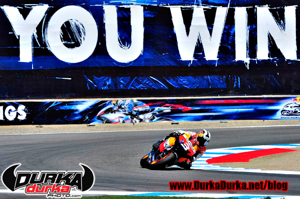 Danu Pedrosa takes turn 11 en route to winning the US Grand Prix.