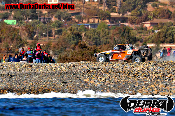 Harley Letner races through Pebble Beach on his way to winning the 500.