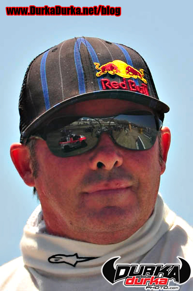 Jeff Ward's Pro 2 is reflected in his sunglasses.