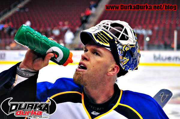 Blues Goaltender Chris Mason
