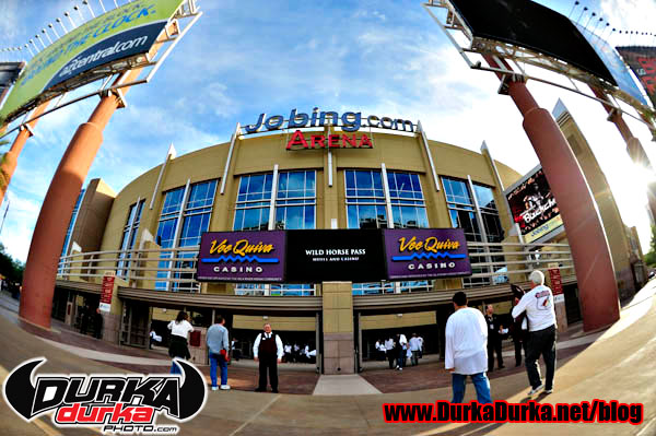 Outside Jobing.com Arena