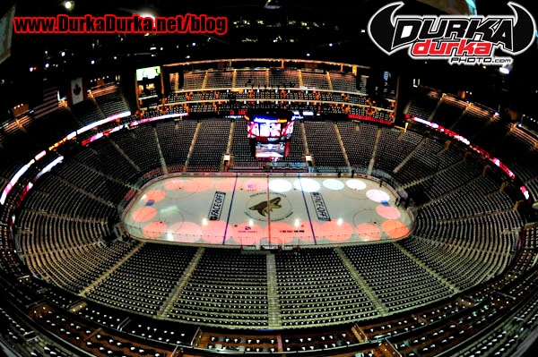 General view of Jobin.com arena before the game between the Phoenix Coyotes and the Columbus Bluejackets.