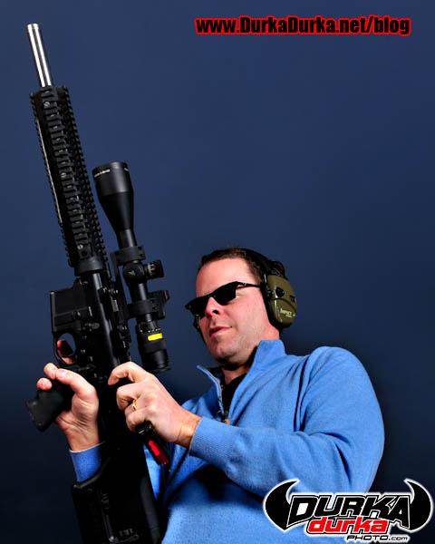 Jonathan clears an AR15.